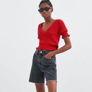 🆕 NWOT Zara TRF Shirt with elastic hem